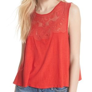 Meant to be Swing top lace and mesh neckline